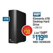 WD Elements 4TB Desktop Hard Drive