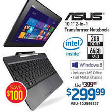 ASUS 10.1 2-in-One Notebook (T100TAM-C1-GM)