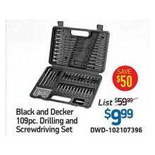 Black & Decker 109 Piece Tool Set