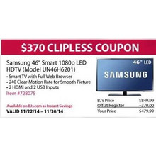 "Samsung 46"" Smart 1080p LED HDTV (Model UN46H6201)"