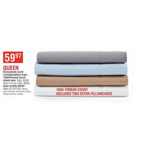 LivingQuarters 6-Piece 1000-Thread Count Sheet Sets