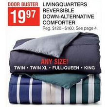 LivingQuarters Reversible Down-Alternative Comforter