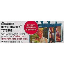 Downtown Abbey Tote Bag Free w/ $20.00 in store purchase