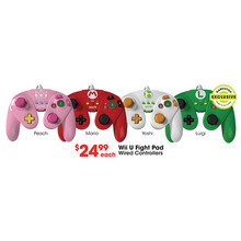 Wii U Fight Pad Controller - Peach
