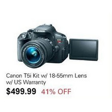 Canon T5i Kit w/ 18-55mm Lens w/ US Warranty