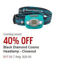 Black Diamond Cosmo Headlamp - 2013