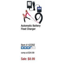 Cen-Tech Automatic Battery Float Charger