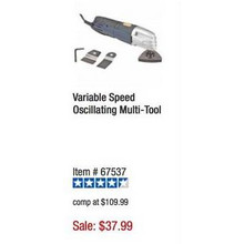 Chicago Electric Power Tools Variable Speed Oscillating Multi-Tool