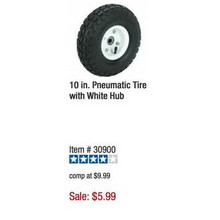 Haul Master 10-in. Pneumatic Tire w/ White Hub