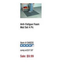 HFT Anti-Fatigue 4-pc. Foam Mat Set
