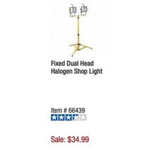 Lunar Work Fixed Dual-Head Halogen Shop Light