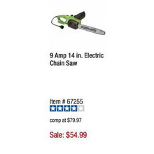 Portland 9-Amp 14-in Electric Chain Saw