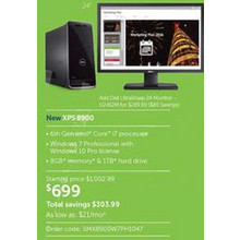 Dell XPS 8900 Desktop w/ Intel Core i7 Processor, 8GB RAM, 1TB HDD, Win 10 Pro
