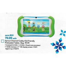 Sprout Channel Cubby 7-in. HD 16GB Kid-Friendly Tablet (Preloaded)