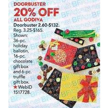 Godiva (Assorted) 20% OFF