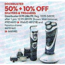 Philips Norelco PowerTouch Electric Razor w/ Aquatec Technology 50%+10% OFF