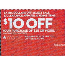 $10 Off Purchase of $25 or More
