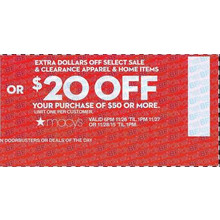 $20 Off Purchase of $50 or More
