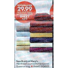 Finley 750-TC King Sheet Set (Assorted Colors)