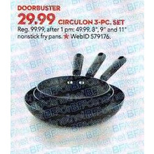 Circulon 3-pc. Open Deep Skillet Set (8-in., 9-in., 11-in.)
