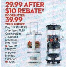 Cuisinart 7-Speed Smartpower Blender (Chrome Finish)