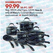 Cuisinart 14-pc. Nonstick Aluminum Cookware Set