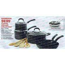 Martha Stewart Collection 12 Pc. Stainless Steel Cookware Set
