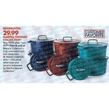 Martha Stewart Collection Collector's 2-qt. Enameled Cast Iron (Assorted Colors)