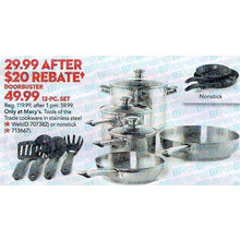 Tools of the Trade 12-pc. Nonstick Aluminum Cookware Set