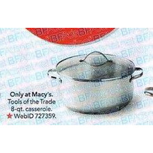 Tools of the Trade Stainless Steel 8-qt. Covered Casserole