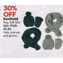 Rampage Misses Scarves (Assorted) 30% OFF ($19.60-$25.20)