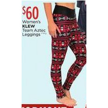 Klew Womens Team Aztec Leggings