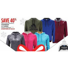 Adidas Womens Fleece Apparel 40% Off