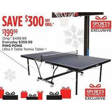 Ping Pong Ultra II Table Tennis Table