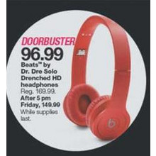 Beats By Dr Dre Solo Drenched HD Headphones