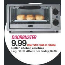 Bella Kitchen Electrics (Assorted)  (rebate)