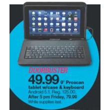 "Proscan 9"" Tablet w/ Case & Keyboard"