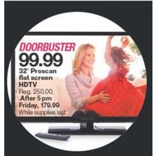 "Proscan 32"" Flat Screen HDTV"