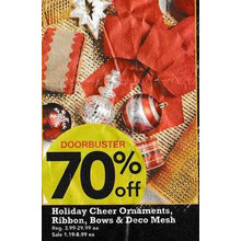 Holiday Cheer Ribbon (Assorted) - 70% Off