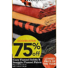 Cozy Flannel Solids (Assorted) - 75% Off