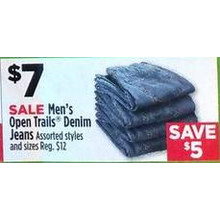 Open Trails Mens Denim Jeans (Assorted)