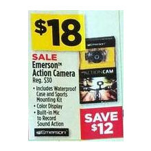 Emerson Action Camera w/ Waterproof Case & Sports Mounting Kit