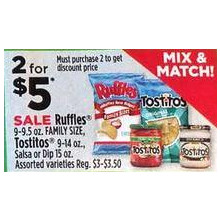 Tostitos Dips (Assorted) 2 for $5.00