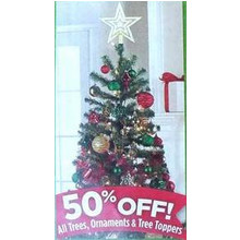 Holiday Tree Toppers 50% Off