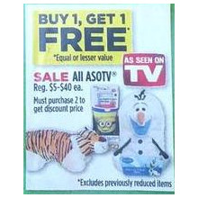 As Seen On TV (Assorted) BOGO Free
