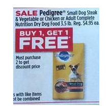 Pedigree Adult Complete Nutrition Dry Dog Food 3.5-lb. BOGO Free