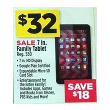 "Family 7"" HD Display Android Tablet"