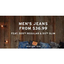 Men's 505 Regular Jeans (Assorted Colors) from $36.99