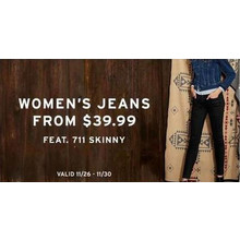 Women's 711 Skinny Jeans (Assorted Colors) from $39.99