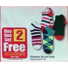 Christmas 2B Cozy Socks B1G2 Free